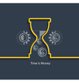 Time is money concept vector image vector image