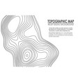 topographic map contour background line map with vector image vector image
