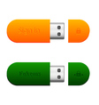 two flash drives vector image