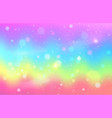 unicorn rainbow wave background mermaid galaxy vector image vector image