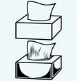 White tissue box vector image vector image