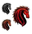 Wild mustang horse cartoon mascot vector image vector image