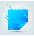 with Abstract Blue Square vector image vector image