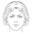 ink sketch head women face pattern vector image