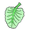 comic cartoon leaf symbol vector image