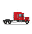 big semi truck flat trendy vector image