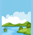 a beautiful lake landscape vector image