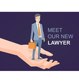 a portrait of a man in a jacket lawyer wi vector image vector image