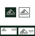 Abstract green triangle logo vector image vector image