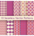 Abstract retro seamless pattern set vector image vector image