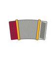 accordion flat vector image vector image