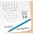 Alphabet and Pencil vector image