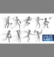 athlete silhouette set sport dynamic vector image