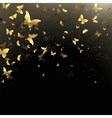 background of butterflies confetti vector image vector image