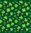 background with clover leaves and insects vector image vector image