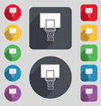 Basketball backboard icon sign A set of 12 colored vector image vector image