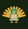 beautiful peacock cartoon outline drawing to color vector image