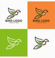 bird lineart logo design stock vector image vector image