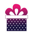 birthday dotted gift box bow celebration vector image vector image