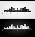 boise usa skyline and landmarks silhouette vector image vector image