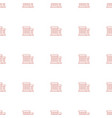 building icon pattern seamless white background vector image vector image