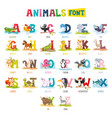 cartoon animals font vector image