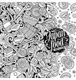 cartoon contour hand-drawn doodles japan food vector image vector image