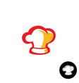 Chef hat logo vector image vector image