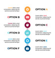 circle metaballs timeline infographic vector image vector image