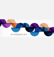 Circle modern geometrical abstract background