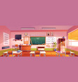 classroom for mathematics learning in school vector image vector image