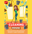 cleaning house service poster vector image vector image