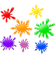 Colorful ink splatter isolated on white background vector image