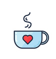 Cup with lovely drink vector image