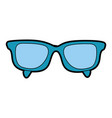 cute blue glasses cartoon vector image