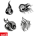 Decorative Tribal tattoos set3 vector image