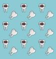 dental braces background vector image