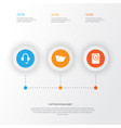 device icons set collection of hdd earphone vector image vector image