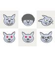 different cat grimaces vector image
