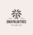 dna palm tree hipster vintage logo icon vector image