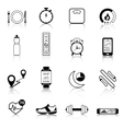 Fitness Tracker Black Icons vector image vector image