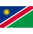 Flag of Namibia in correct proportions and colors vector image vector image