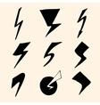 flash symbols vector image