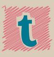 flat tumblr social media icons vector image vector image
