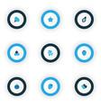 food icons colored set with papaya parsley vector image vector image