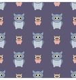 Gray and purple owls set vector image vector image