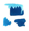 grunge brush stroke blue set vector image vector image