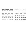 hand drawn set objects for design use black vector image vector image