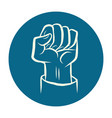 hand fist fight protest gesture vector image vector image