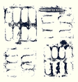 Handcrafted texture set vector image vector image
